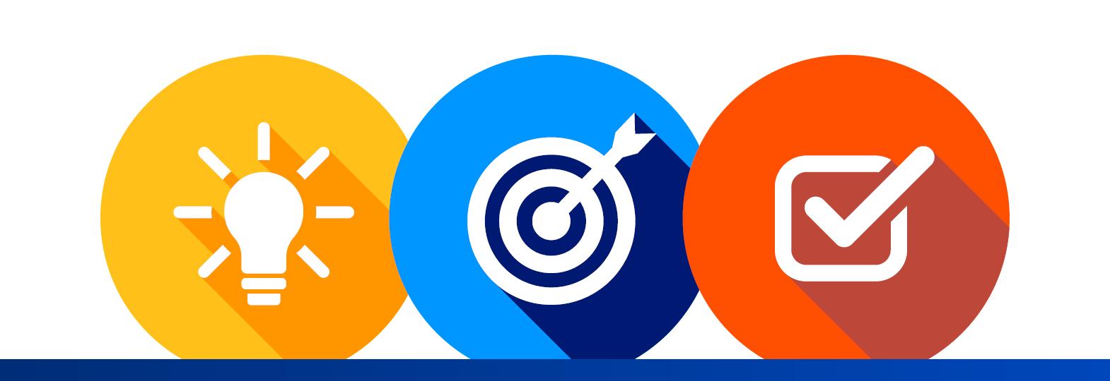 DRI Solutions Marketplace Light bulb, target, check box